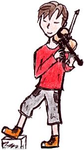 Geigen Junge