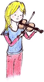 Geigen-Mädchen Nürnberg